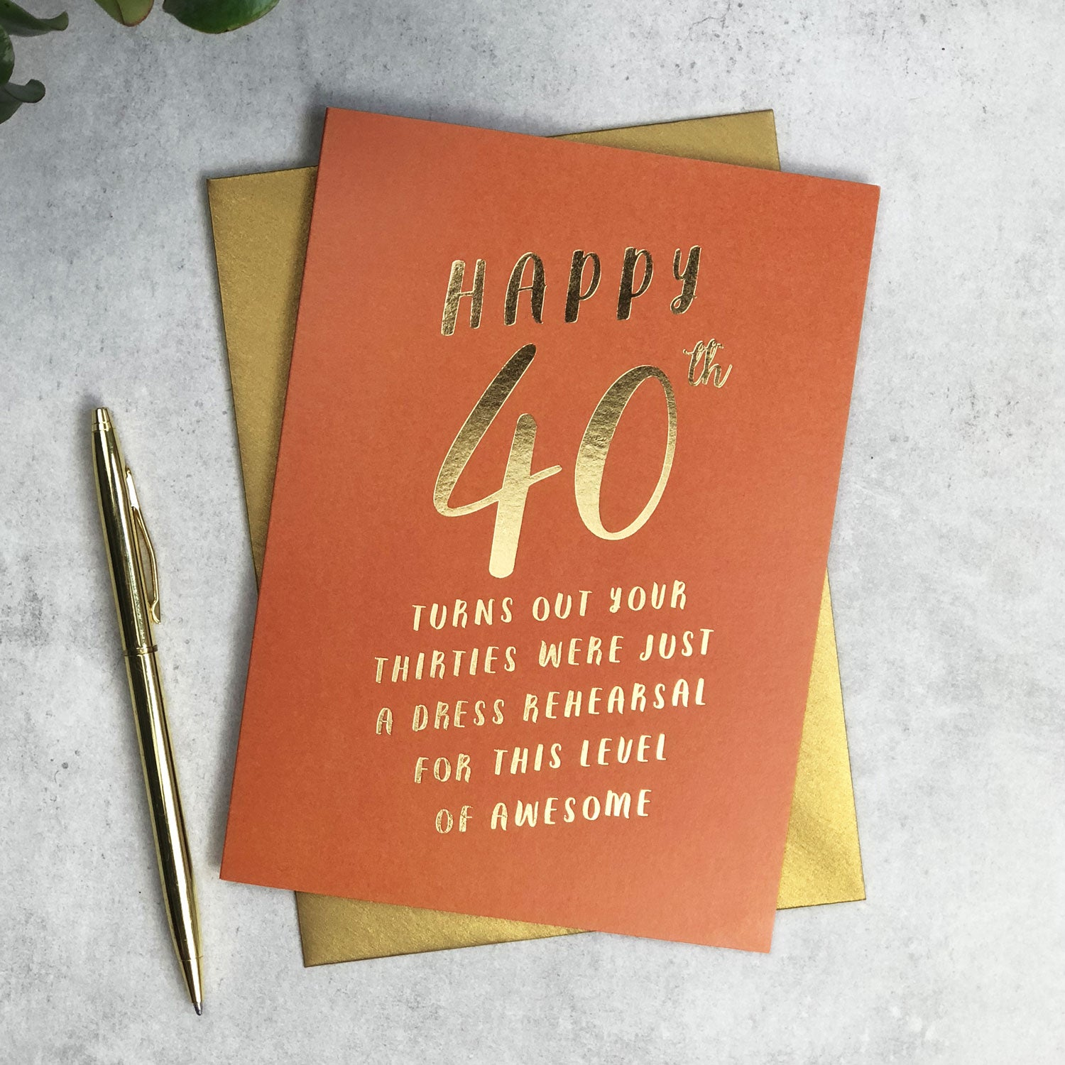 Funny 40th Birthday Dress Rehearsal Card