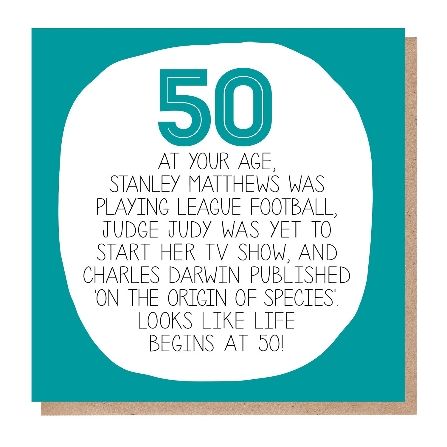 50th Birthday Card - At Your Age