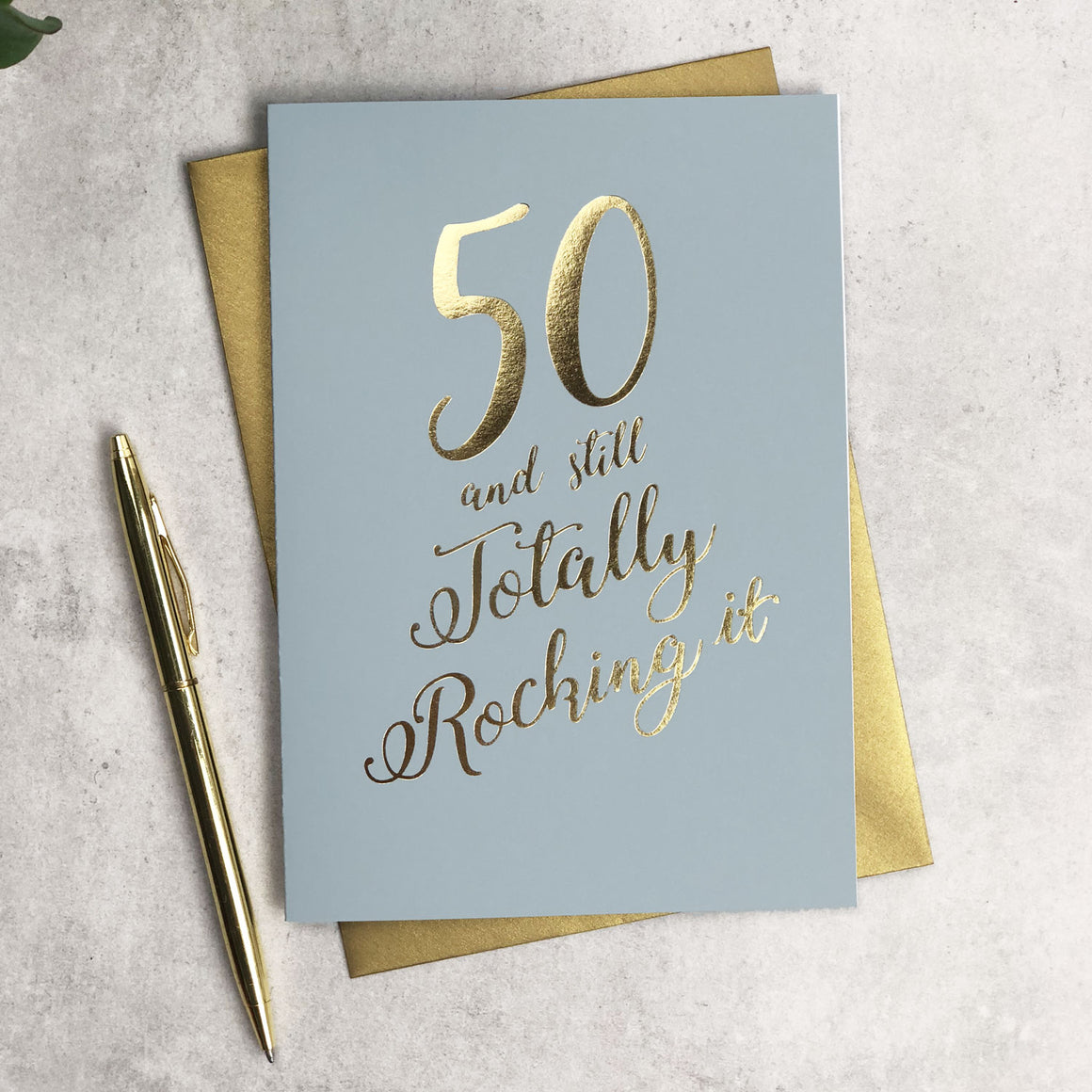 Funny 50 and Still Totalling Rocking It Birthday Card
