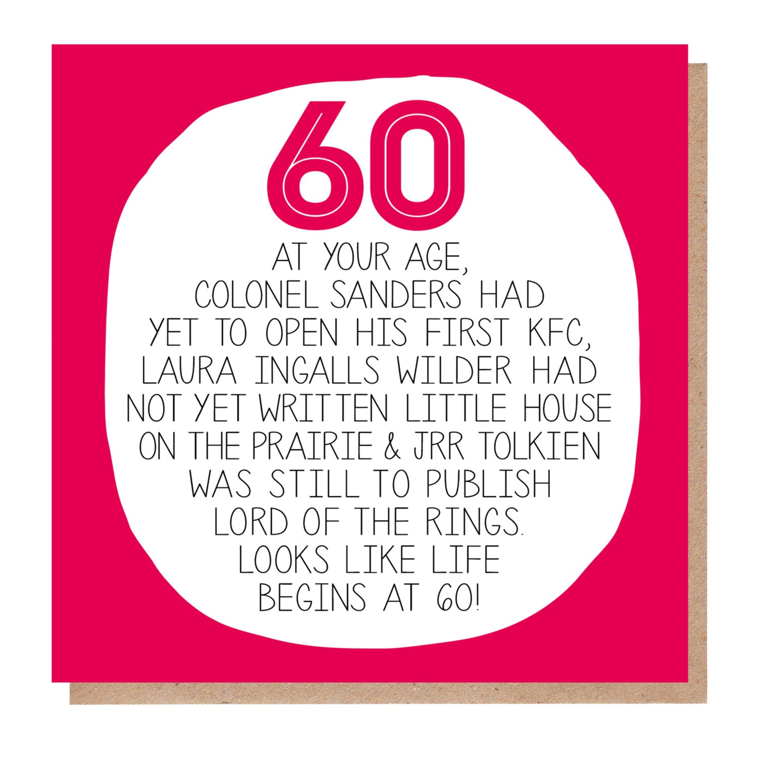 60th Birthday Card - At Your Age