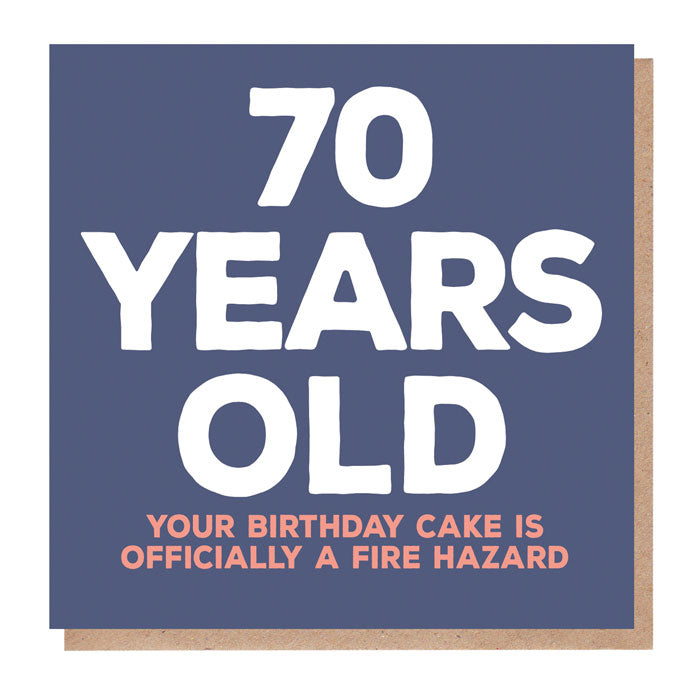 Funny 70 Years Old Birthday Card