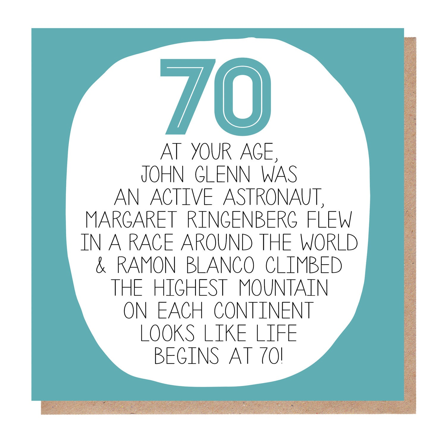 70th Birthday Card - At Your Age