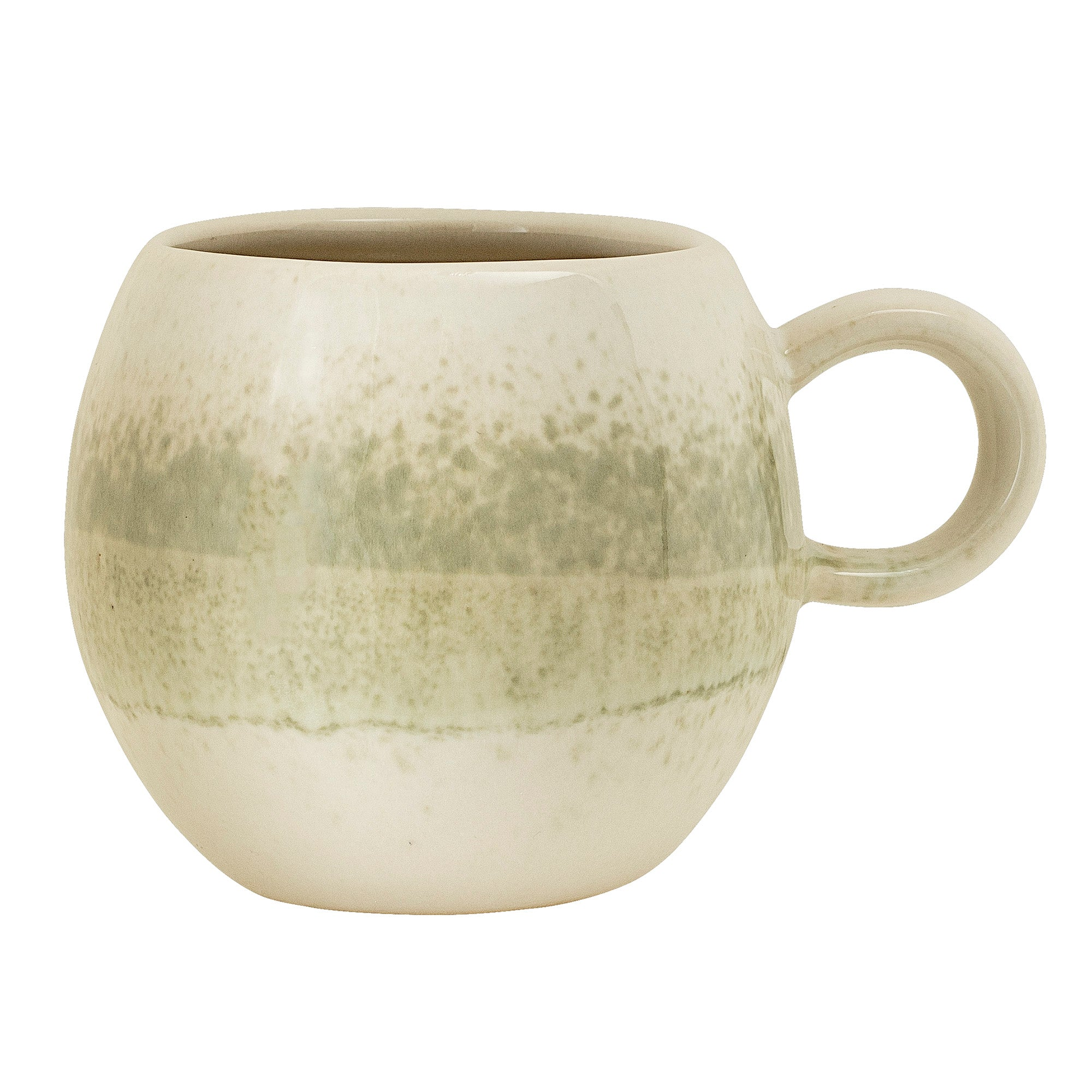 Green Stoneware Coffee Cup