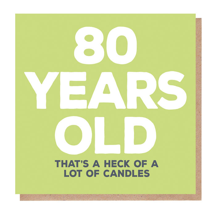 Funny 80 Years Old Birthday Card