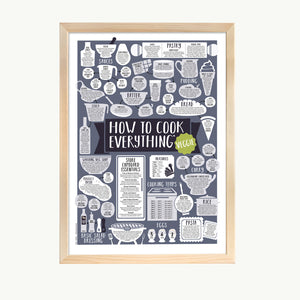 vegetarian kitchen print cut out