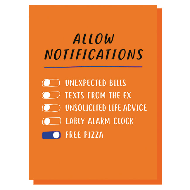 Allow Notifications Card