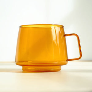 Amber Glass Coffee Cup