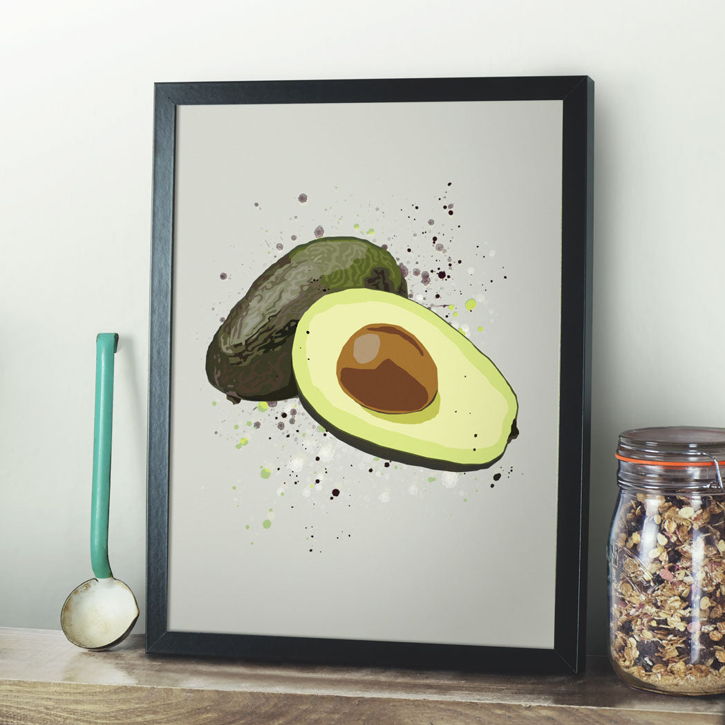 Modern Avocado Kitchen Print