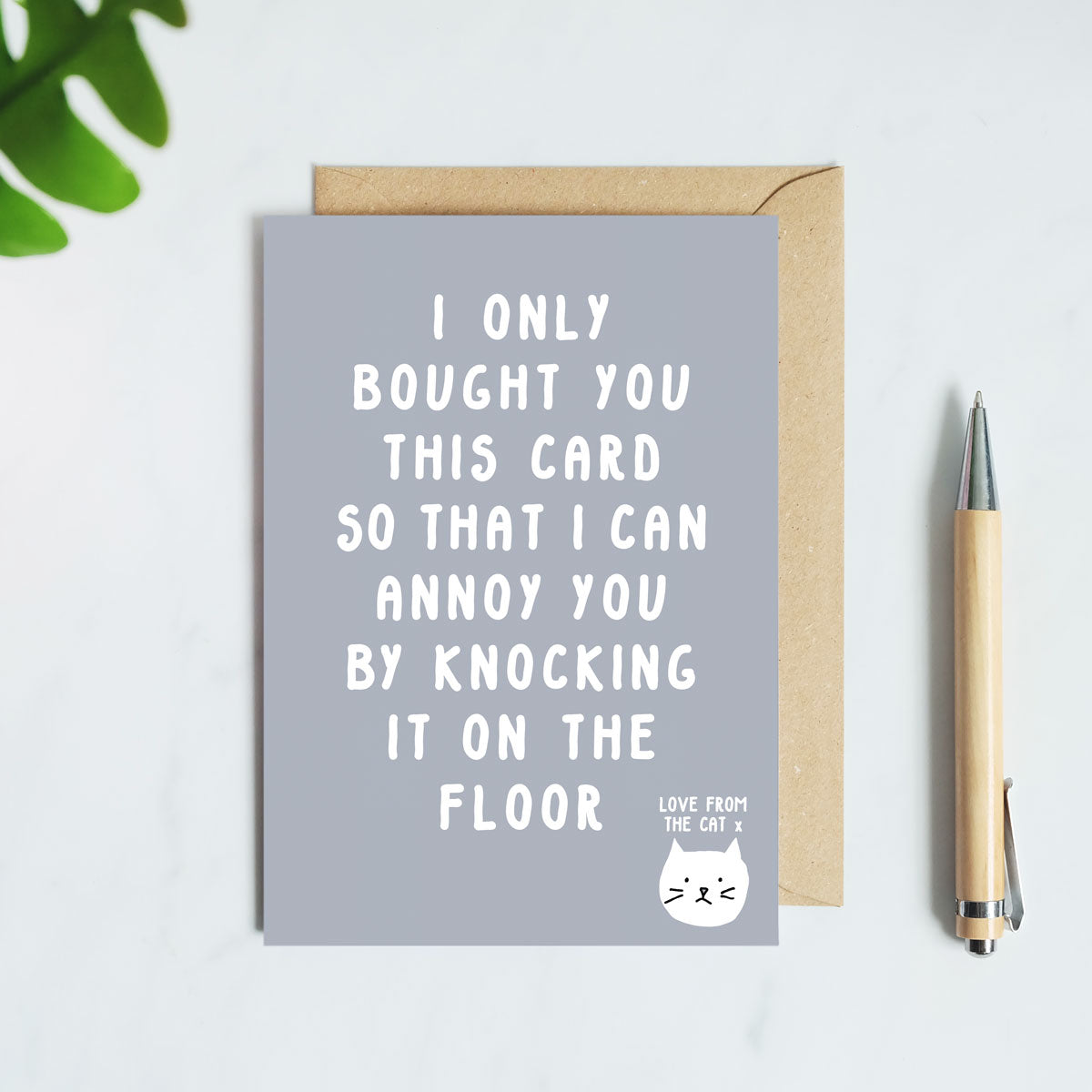 Knocking It On The Floor Card From The Cat