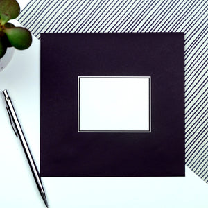 black envelope for funny sympathy card