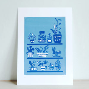 A4 Limited edition Houseplants screen print