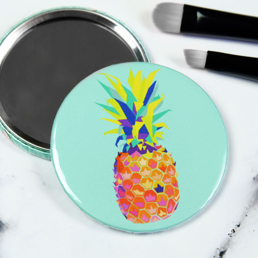 Pineapple Pocket Mirror/Badge/Bottle Opener
