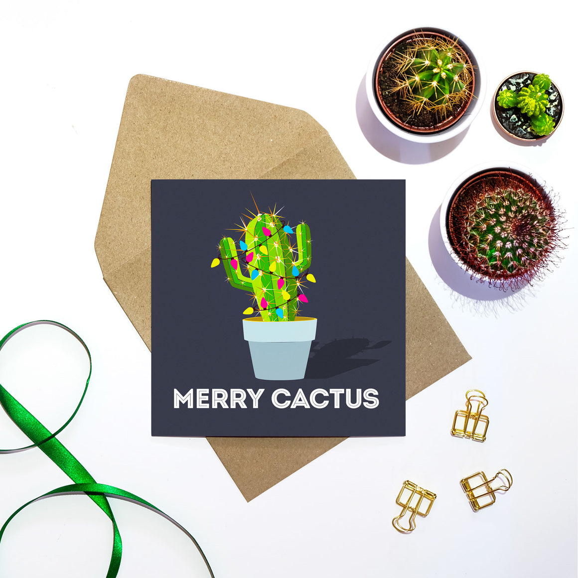 Merry Cactus Christmas Card