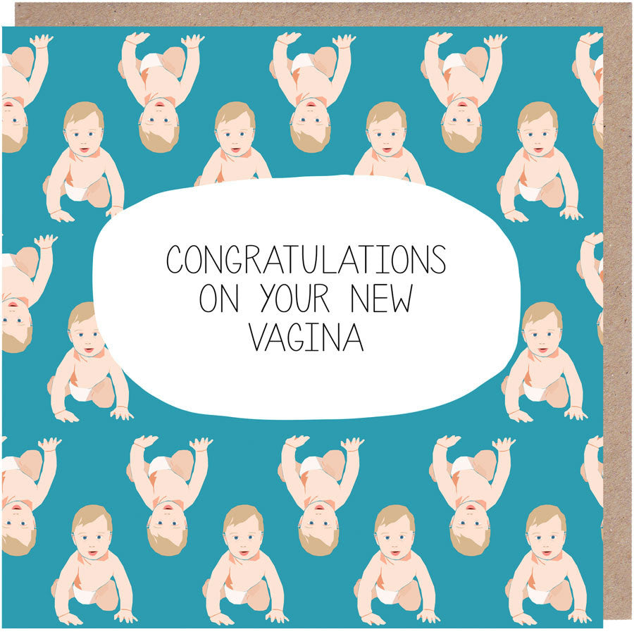 congratulations on your new vagina card new vagina baby card
