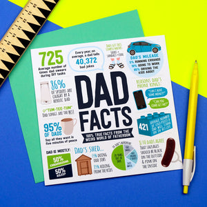 funny dad facts card