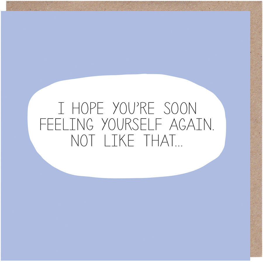 Feeling Yourself Get Well Soon Card Paper Plane