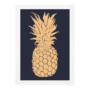 Gold Pineapple Print