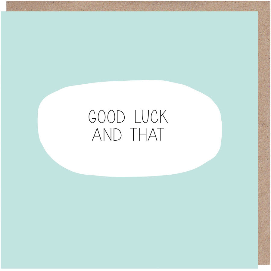funny good luck card
