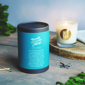 mint, white tea, verdant foliage and wild herb candle