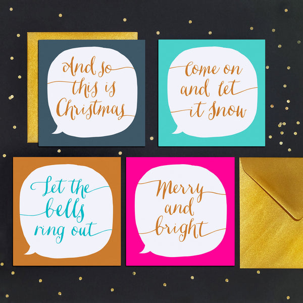 Let The Bells Ring Out Song Lyrics Christmas Card - Paper Plane