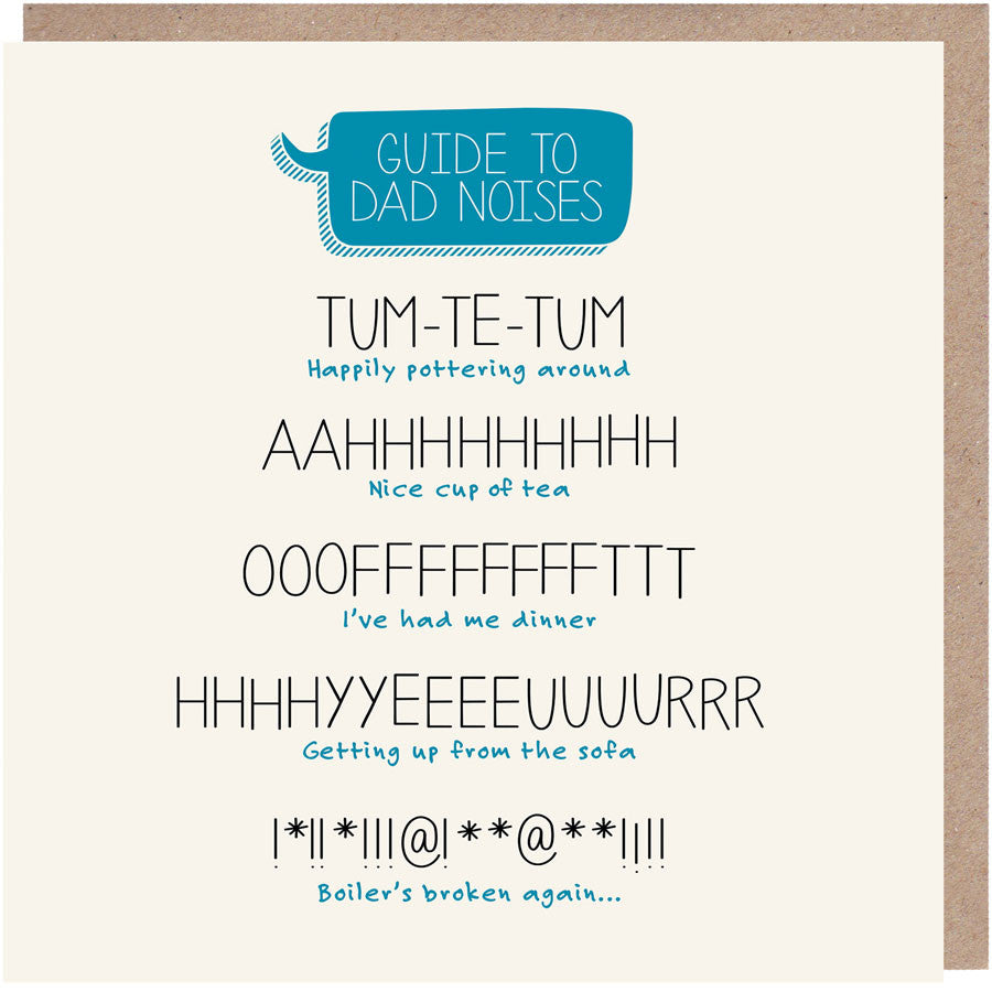 Dad Noises Father's Day Card