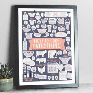 Coral How To Cook Everything Framed Print