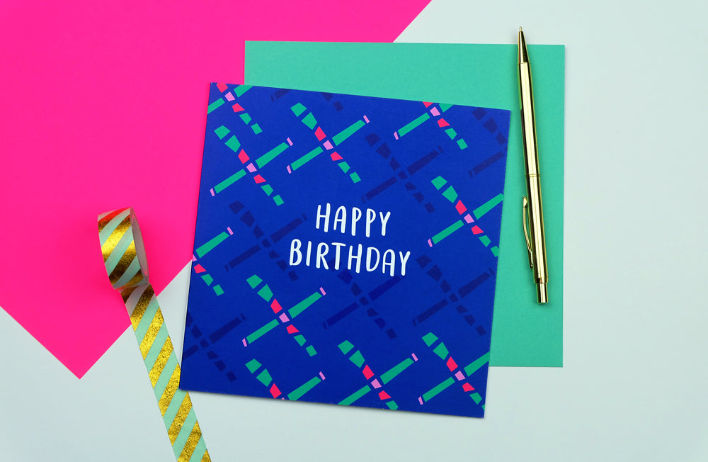 80s Carpet Birthday Card