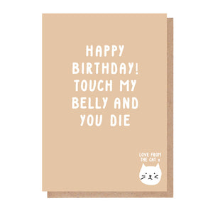 funny birthday cat card