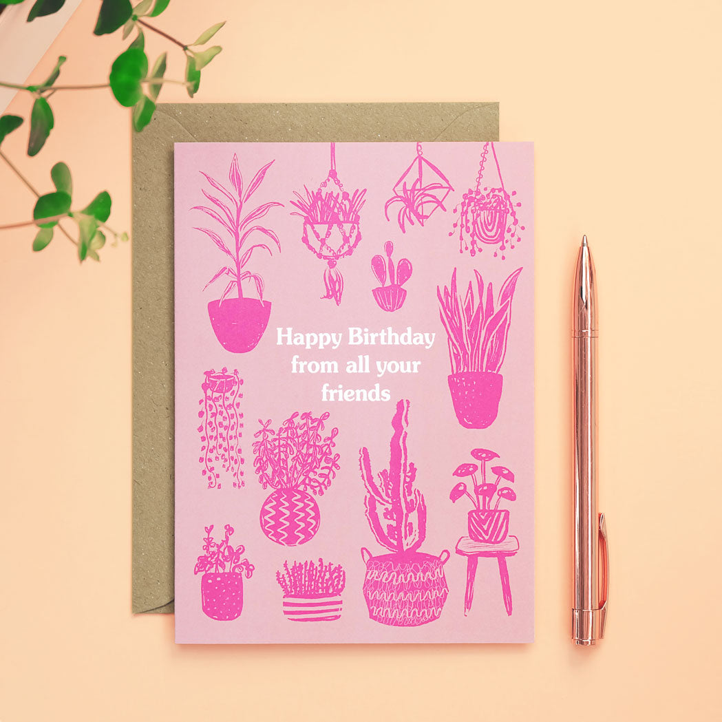 houseplants birthday card