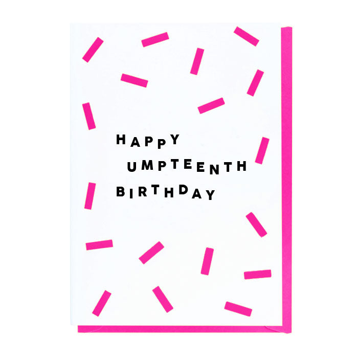 Happy Umpteenth Birthday Card