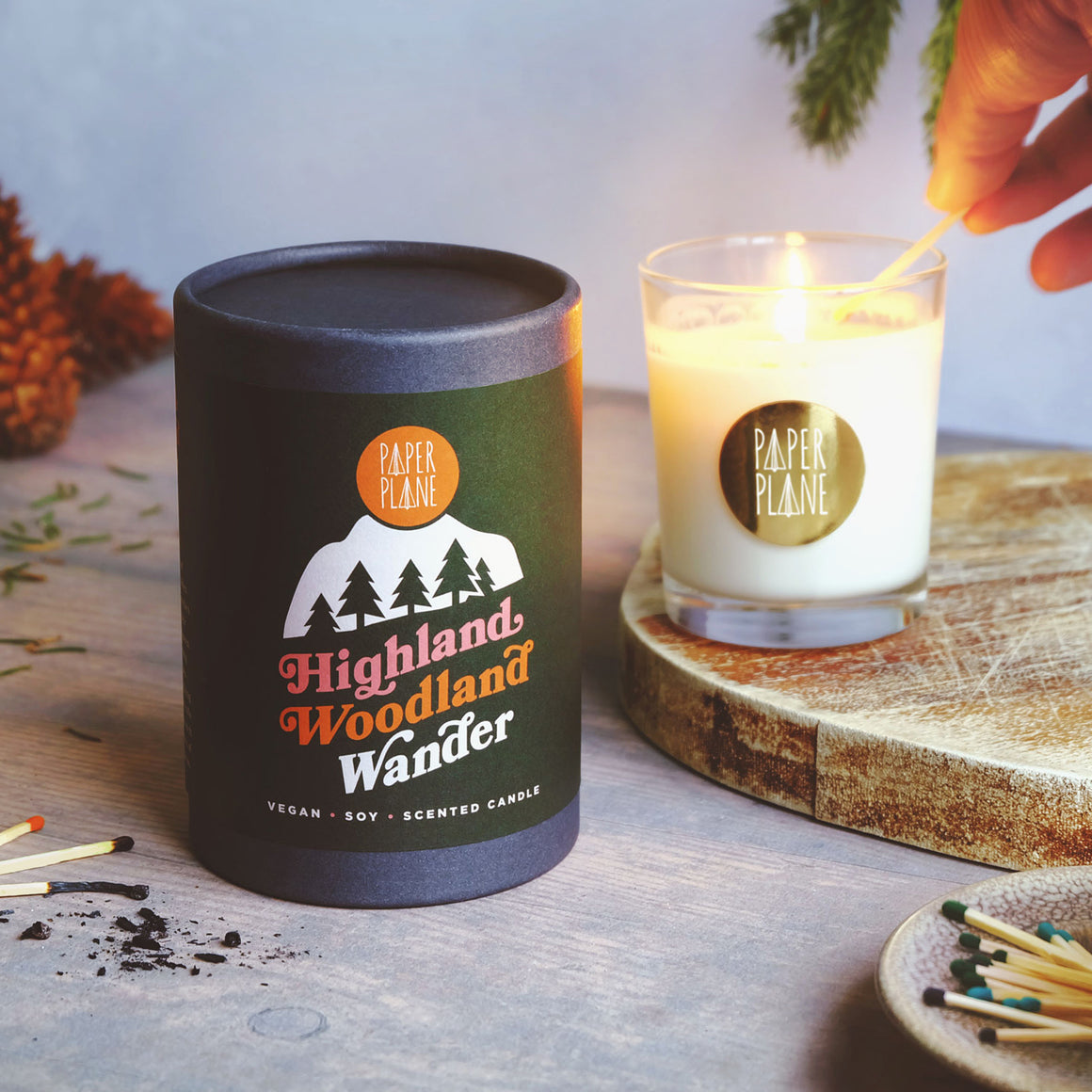 Highland Woodland Wander Vegan Soy Candle