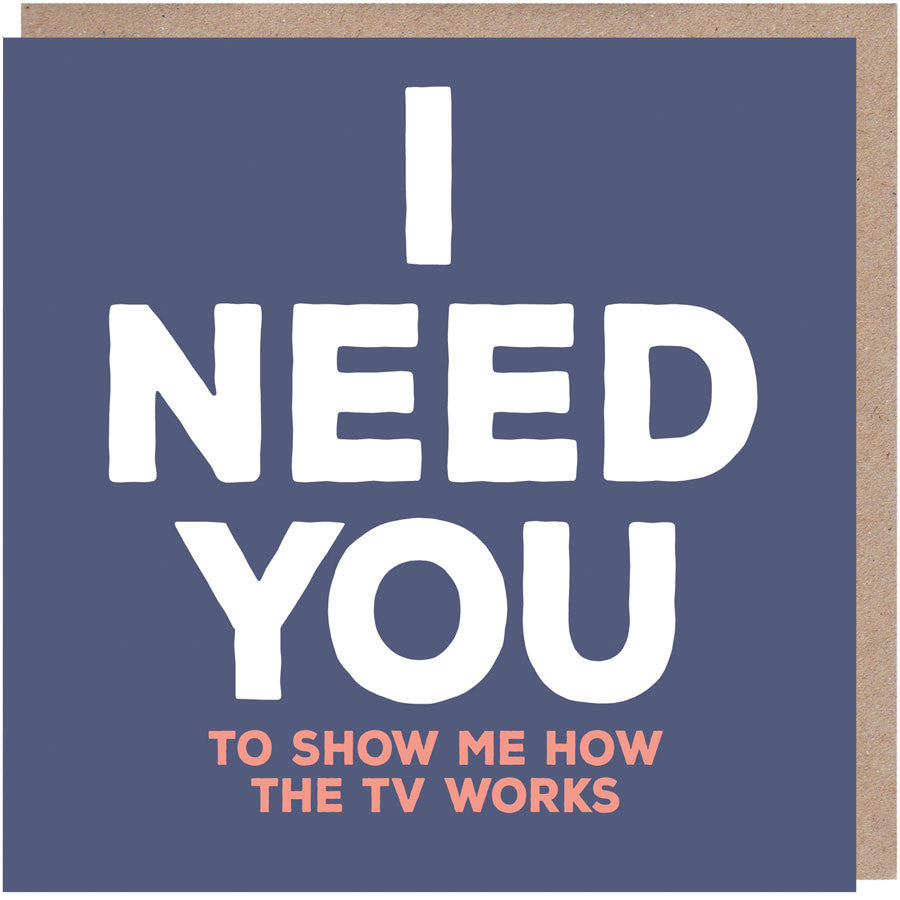 I need you to show me how the tv works