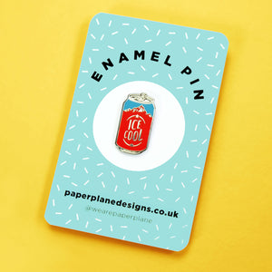 beer can pin badge