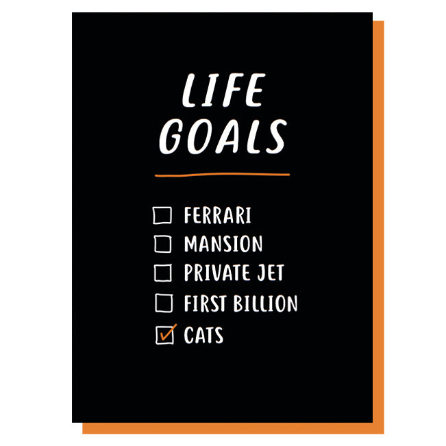Life Goals Birthday Card