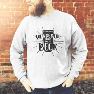 most wonderful time for a beer sweatshirt
