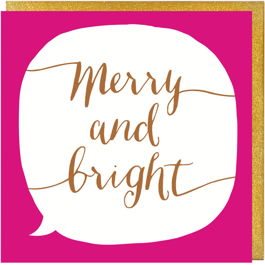 Merry and Bright Song Lyrics Christmas Card - Paper Plane