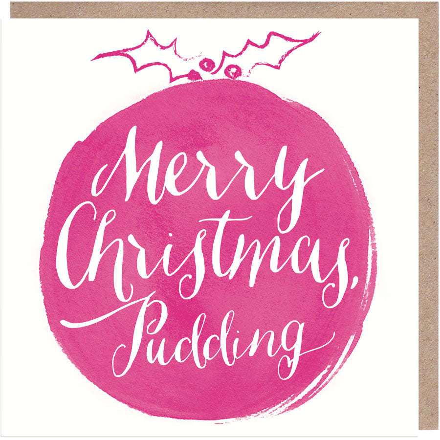 Merry Christmas Pudding Christmas Card
