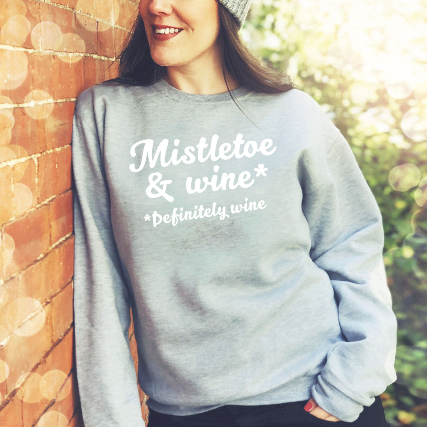 Mistletoe & wine sweatshirt