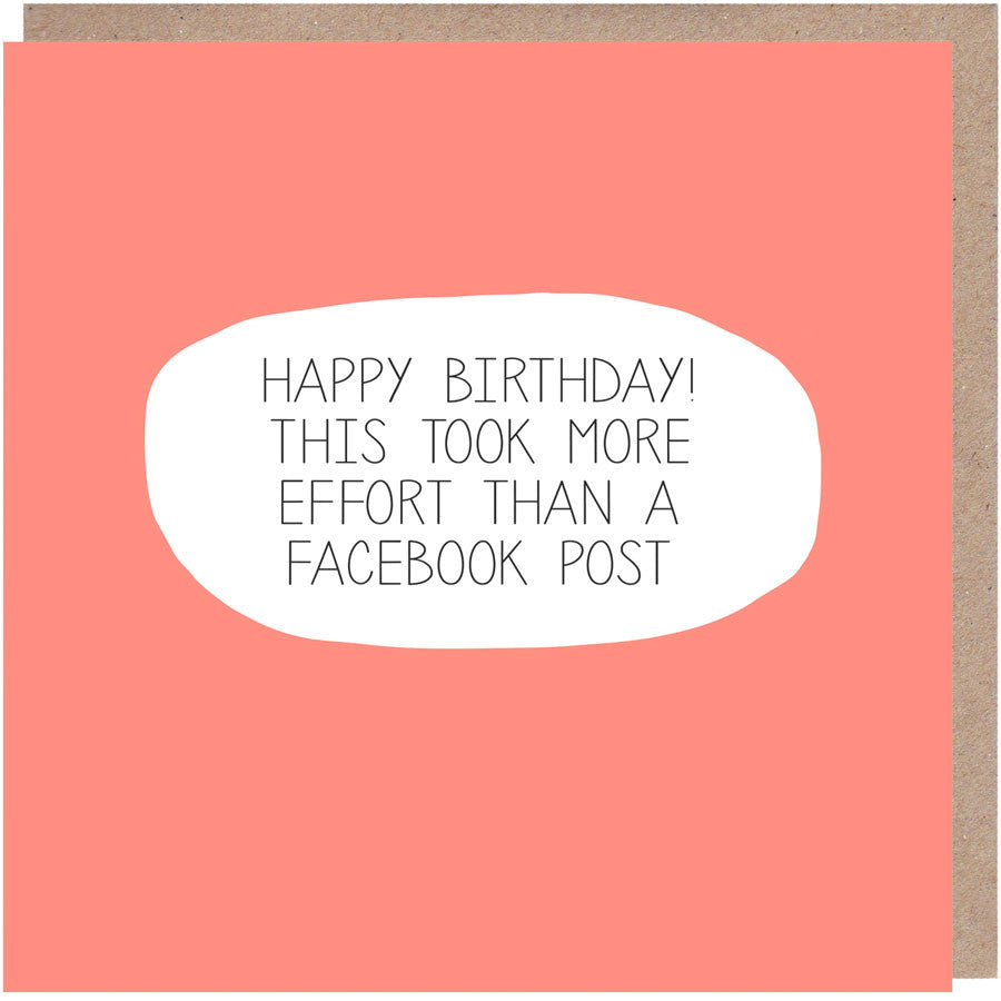 Funny Facebook Birthday Card