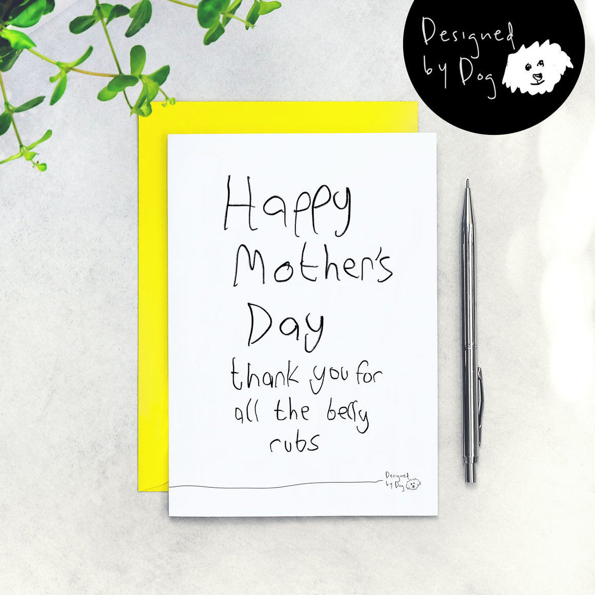 mother's day dog card