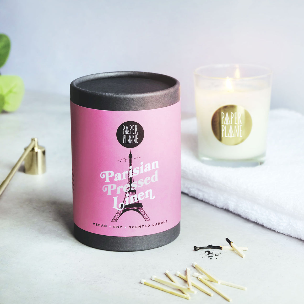 Parisian Pressed Linen Vegan Soy Candle