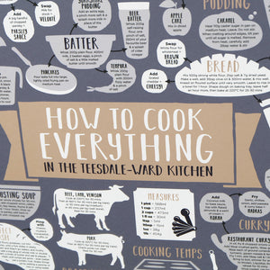 personalised how to cook everything print close-up