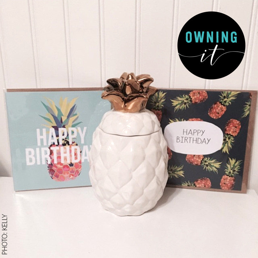 Tropical Pineapple Birthday Card