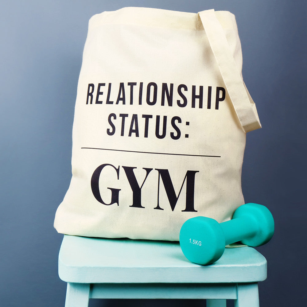 Relationship Status Gym Tote Bag