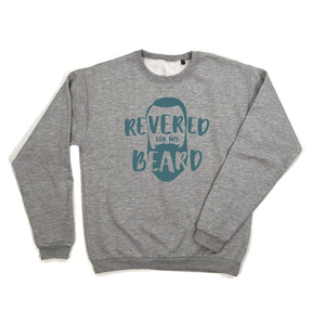 Revered For My Beard Sweatshirt blue