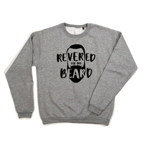 Revered For My Beard Sweatshirt black