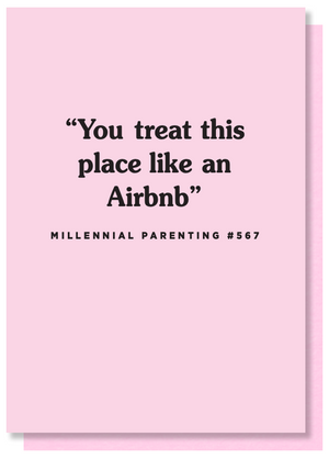 funny airbnb card