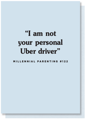 uber funny card