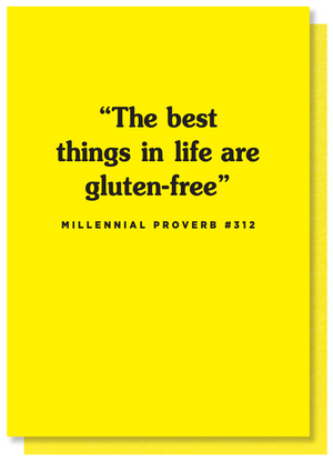 gluten free funny card