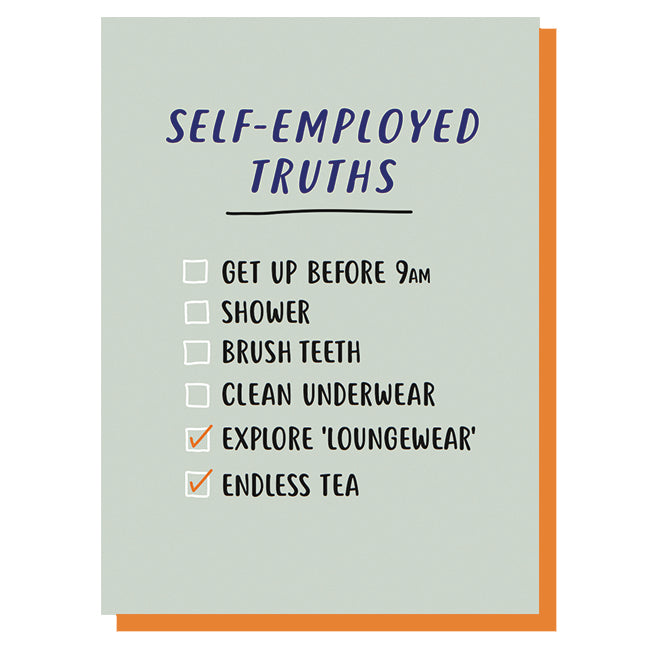 Self-Employed Truths Leaving/New Job Card